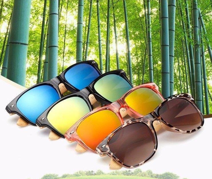 New Retro Bamboo Sunglasses Vintage Style Unisex Womens Mens Brands