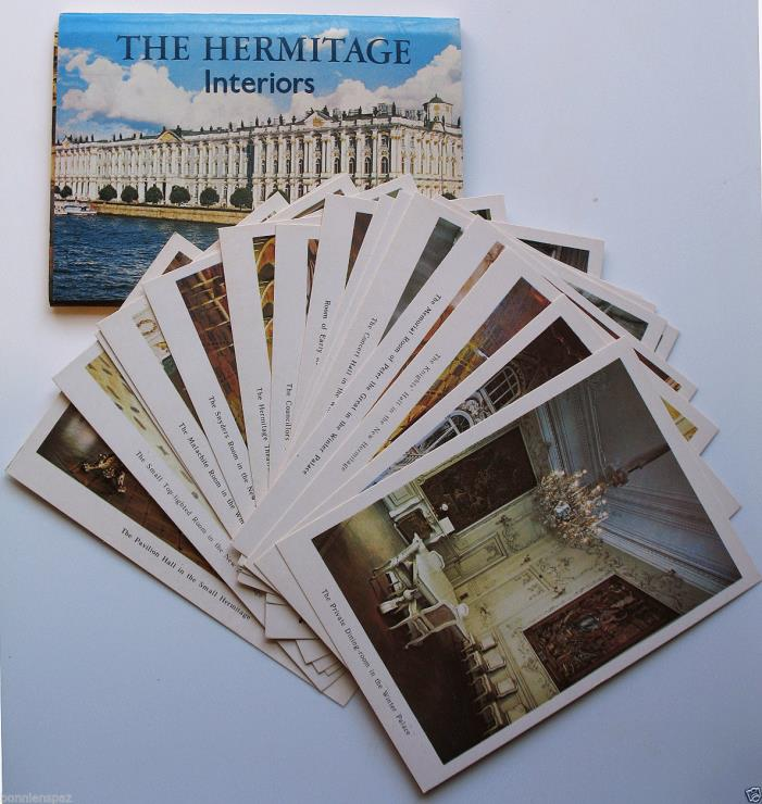 The Hermitage Interiors, 1983 Collectible Postcard Set, 16, USSR, Russia, HTF
