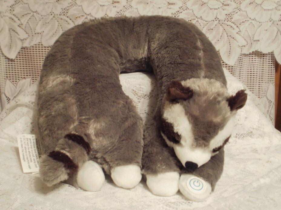 Raccoon Massaging Neck Pillow              (#890)