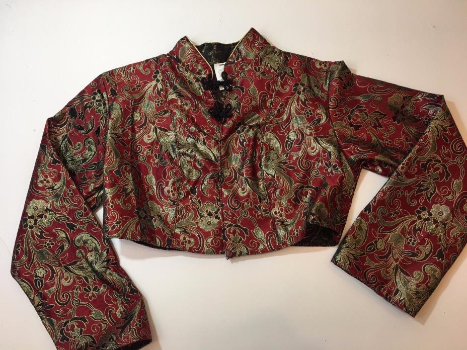 Vintage Chinese Half Jacket size Large L Pageant Costume Older Formal