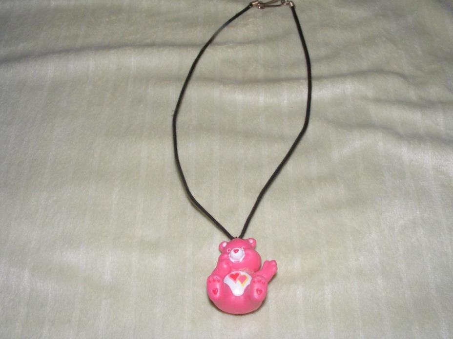 Care Bear Love-a-lot Bear  Pendant Charm Necklace Jewelry Stocking Stuffer