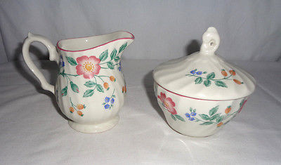 Churchhill Staffordshire Fine English Tableware Sugar with Lid  & Creamer