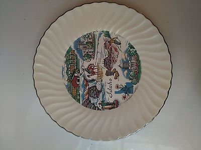 Idaho State Souvenir Plate Decorative 9 1/2