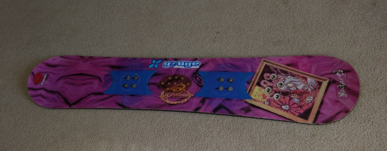 Snowboard girls woman's Palmer mad scientist purple no bindings