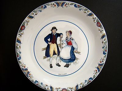 Rorstrand Swedish National Costumes Porcelain Plate Dalsland Sweden - Rare HTF!