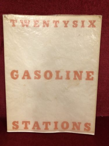 1969 Edward Ruscha Twentysix Gasoline Stations Signed Copy