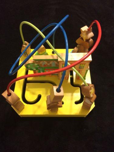 Vintage Sesame Street Bead Maze Cube