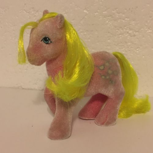 My Little Pony Ponies MLP G1 vintage 1984 So Soft Shady sunglasses neon pink