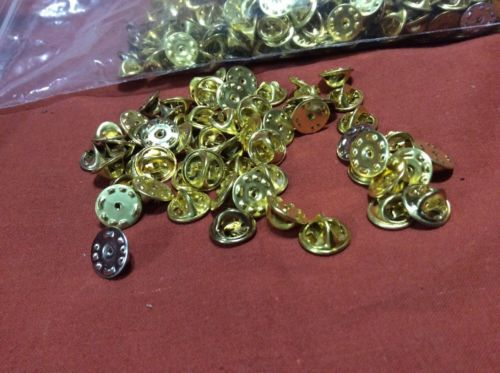500 Brass & A Few Silver Color Military Clutch Pin Backs