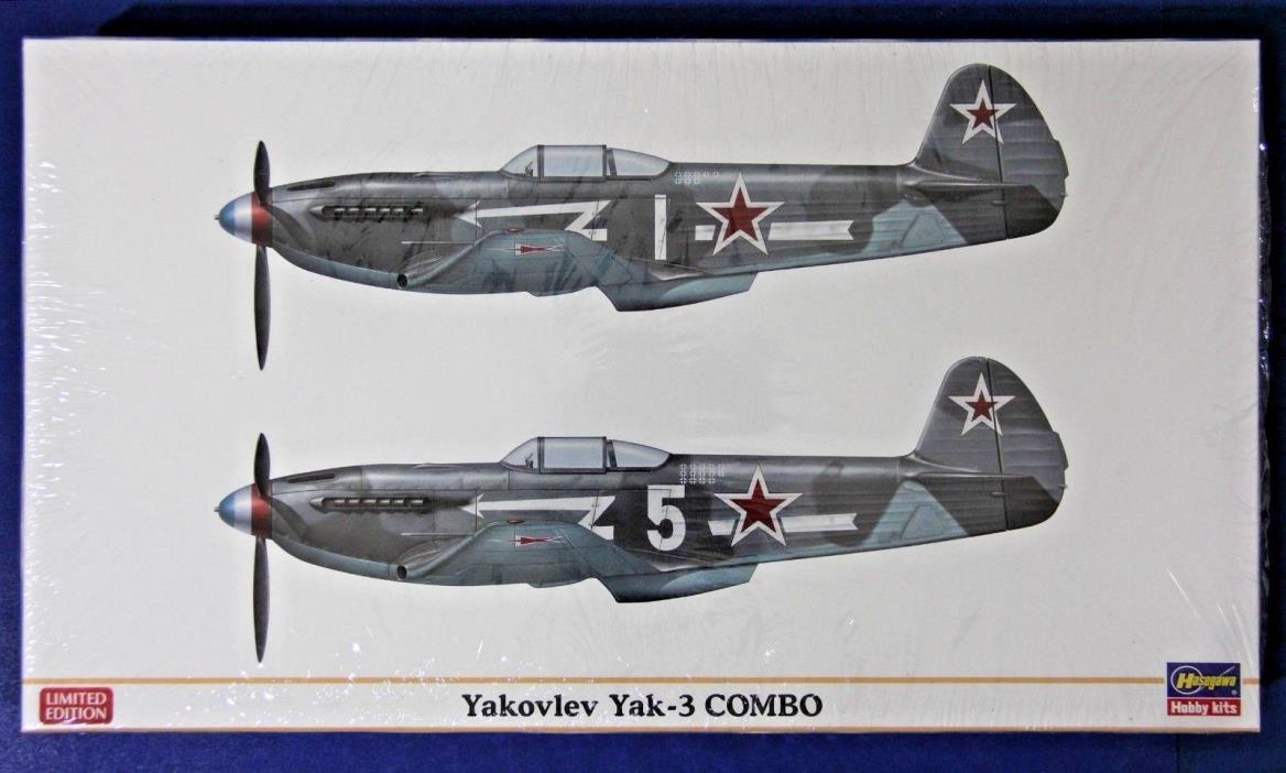 Hasegawa 01938: 1/72 Yak-3 Combo (Limited Edition) 2 Kits in 1 Box