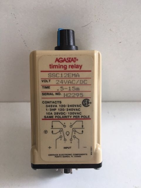 Agastat Timing Relay SSC12EMA