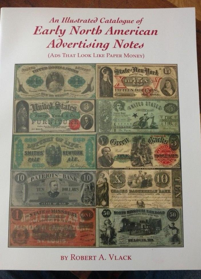 Illustrated Catalogue Early North American Advertising Notes FREE Ship USA Used