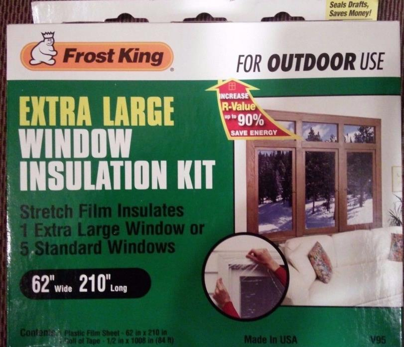 Lot of 2 Packs Frost King V95H Extra Large Window Insulation Kit for Outdoor Use
