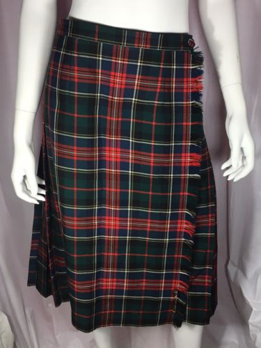 Green River Clothiers Kilt Size 8 Women 100% Wool Made In Canada Style 0015301
