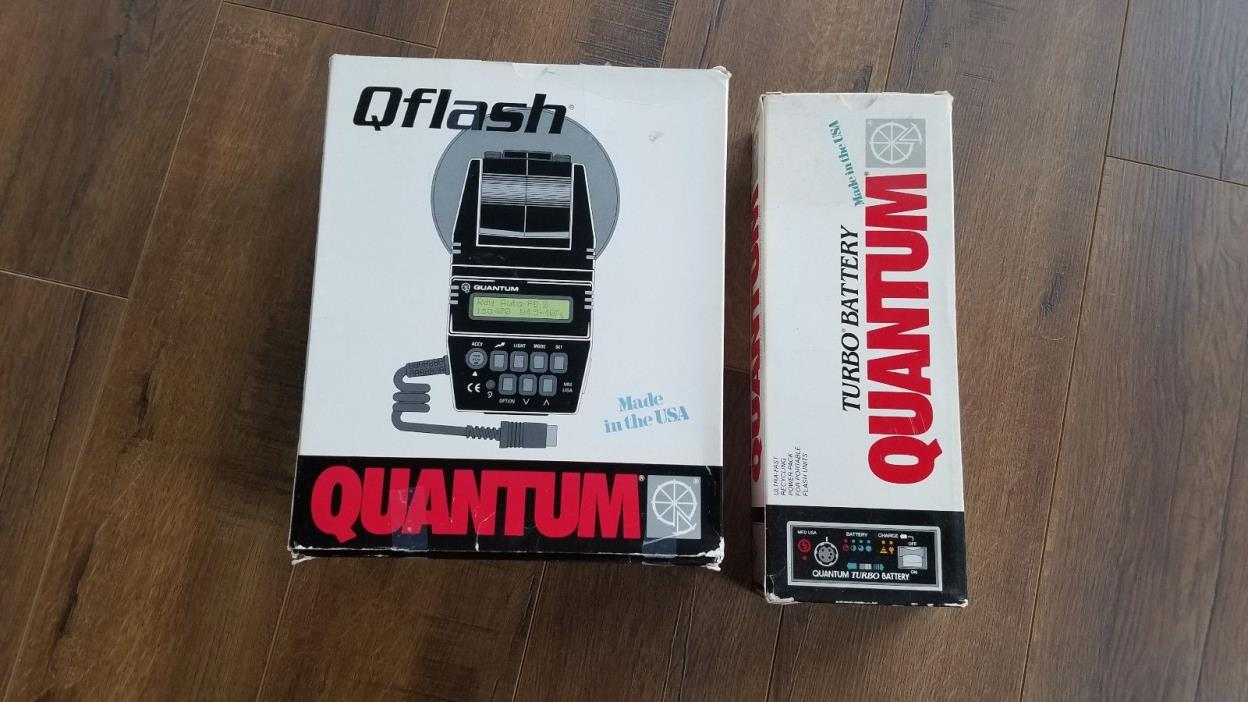 Quantum Qflash Q Flash T2 and Turbo Battery with Charger and New Battery