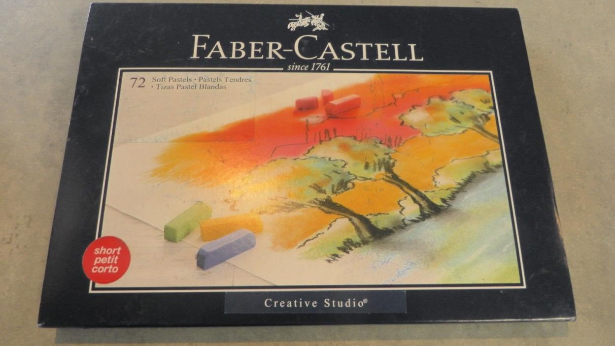 BRAND NEW FABER-CASTELL CREATIVE STUDIO SHORT SOFT PASTELS 72 COUNT 128272T