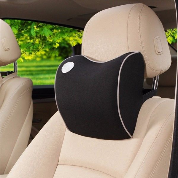 Neck Support Car Seat Head Rest Memory Foam Pillow Cushion Neck Rest Black