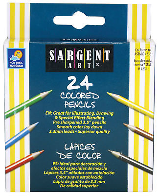 Sargent Art Half-Size Colored Pencils - 3.5 in - 24 count