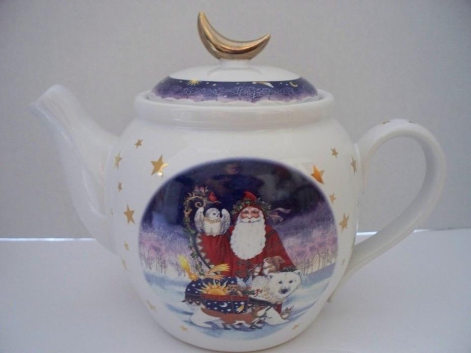 Christmas Santa Teapot Natural Wonders Polar Bear by Judith Griffith Old World