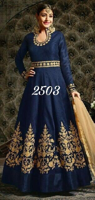 A Very Baeutiful Anika Special Indian Bollywood Designer Western Type Gown 2503