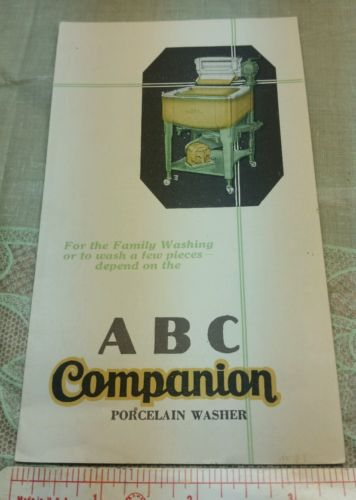 Old Fold out Brochure ABC Companion Porcelain Washer Peoria IL Stevens Point WI