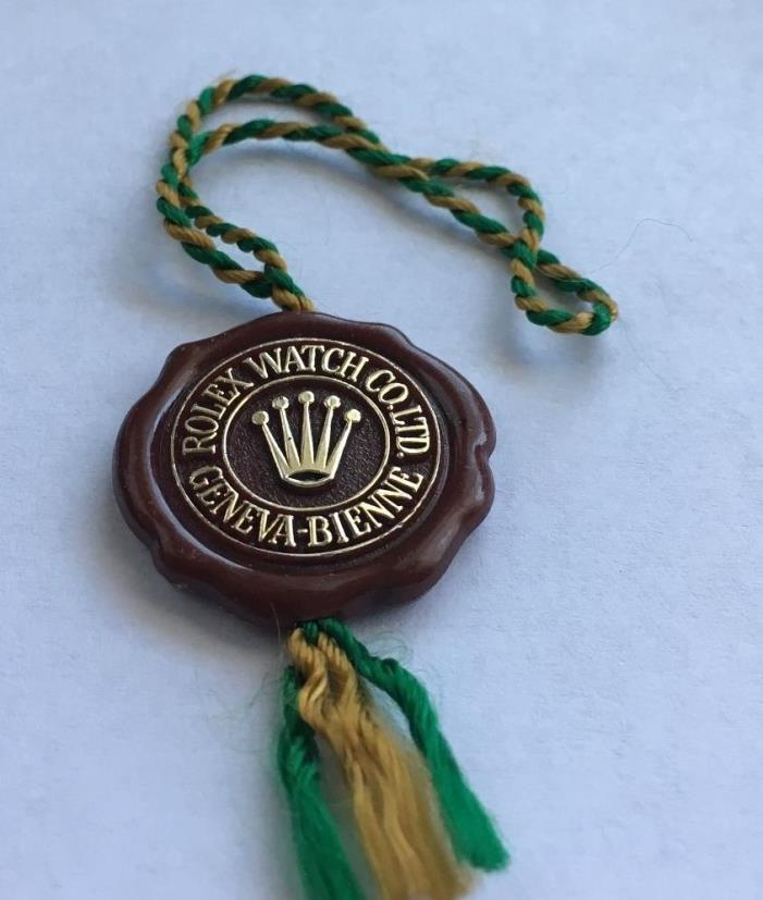 Vintage 1970's  ROLEX RED SEAL HANGTAG Great Price
