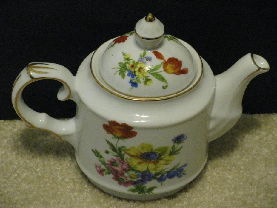 Vintage Royal Danube Porcelain Teapot Rose Gold 7