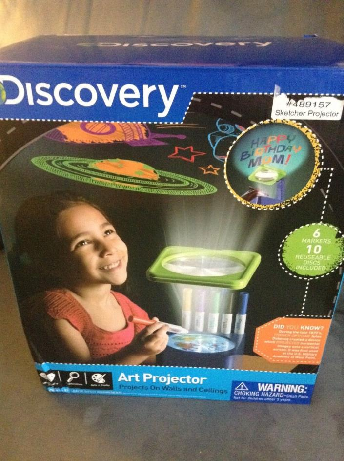 DISCOVERY ART PROJECTOR AGES 6+ PROJECTS ON WALLS AND CEILINGS - NEW IN BOX