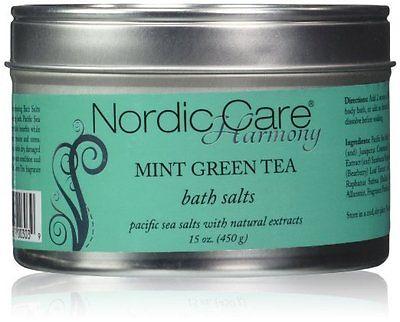Nordic Care Harmony Mint Green Tea Bath Salts, 15 Ounce - NEW