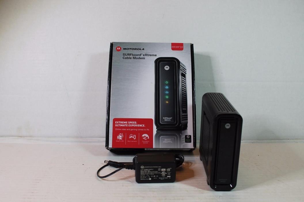 Motorola SB6121 SURFboard eXtreme Broadband Cable Modem DOCSIS 3.0 EUC