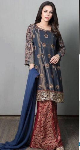 Pakistani Designer Inspired Shalwar Kameez Maria B Asim Jofa formal replica suit
