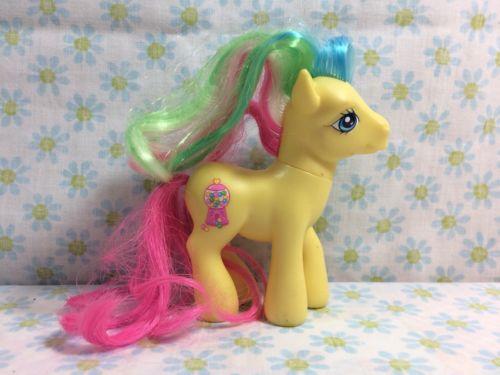 2007 My Little Pony Best Friends G3 Yellow Pretty Pop Figure w/Bubblegum Cutie