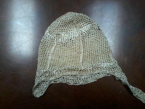 Elegant '30s Vintage Heirloom Crochet Baby/Doll Bonnet Beautiful Gold Material
