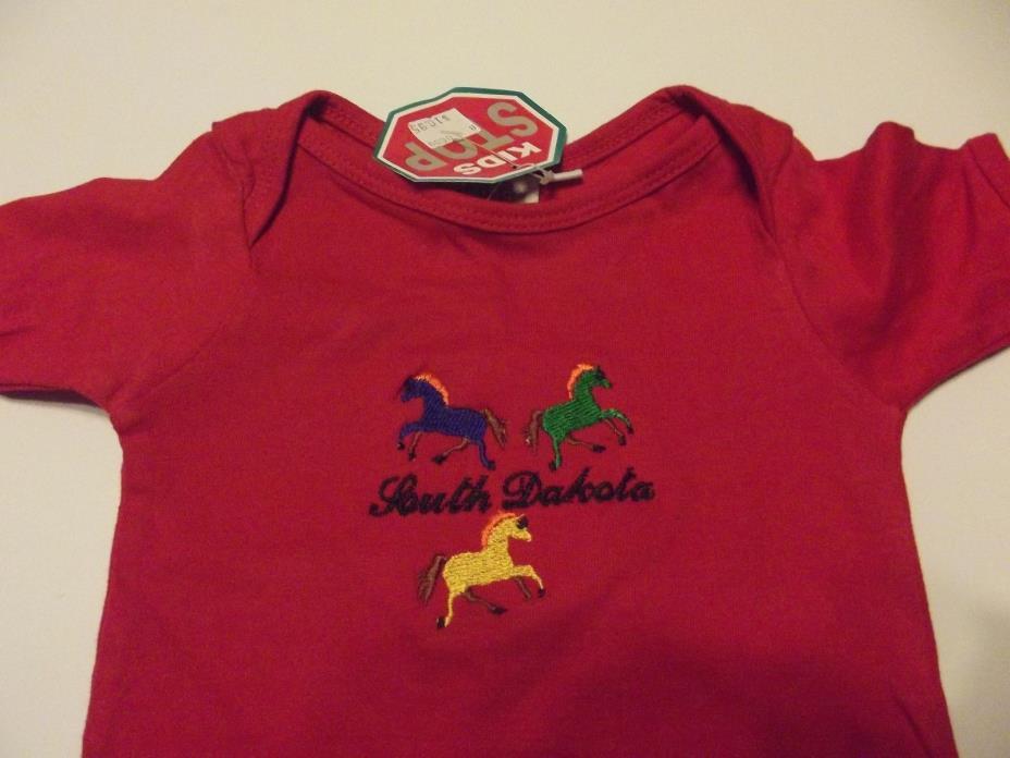new kids collection bodysuit boy size 6-12 months 100% cotton short sleeve