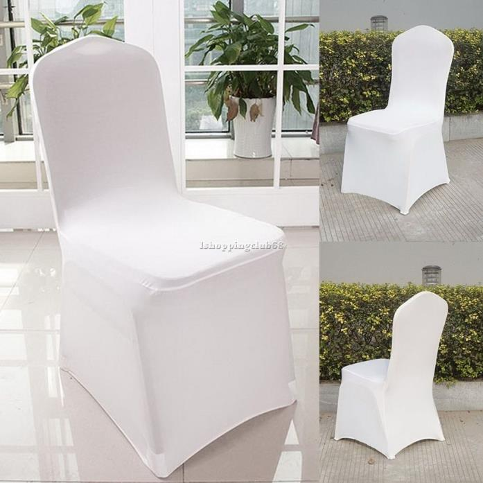 Chair Covers White Spandex Lycra Wedding Banquet Anniversary Party Decor 300pcs