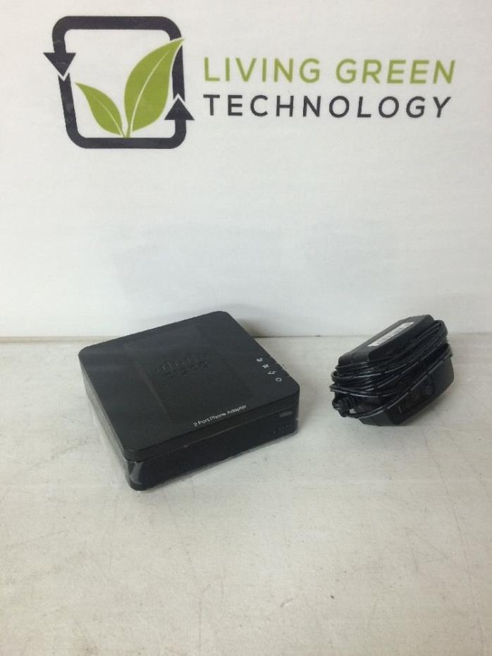 Cisco SPA112 2 Port Phone Adapter w/ Power Supply