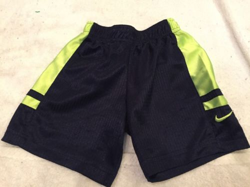 Nike Boys Toddler Little Kids Basketball Shorts 3T Black Neon Green. Free Ship
