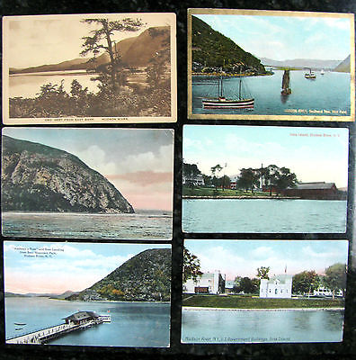 Ten Antique Postcards 1910 Hudson River, Iona, Storm King, West Point, etc