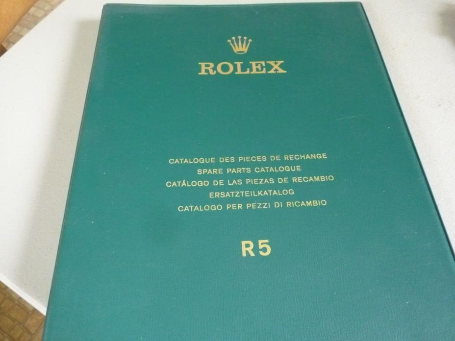 Watchmakers Rolex R5 Spare Parts Catalouge