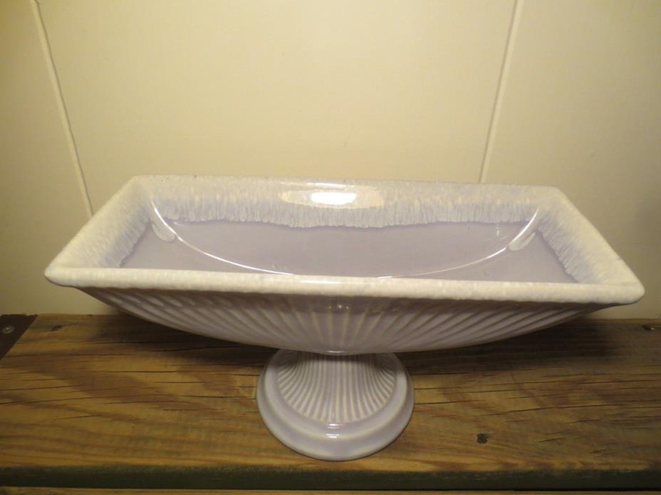 Ceramic or Porcelain, Glazed, Rectangle, Pedestal Bowl, Violet Color