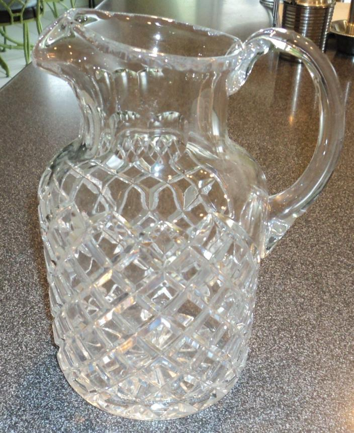 Vintage  Ceskci  Crystal  Glass  Pitcher