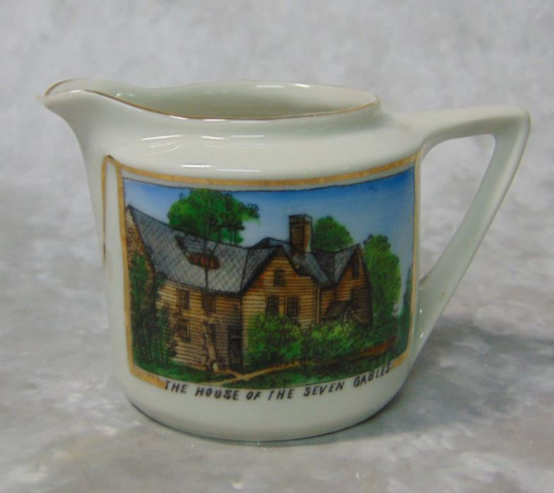 Vtg House Of Seven Gables CREAM PITCHER Creamer Germany Salem, Mass Porcelain!