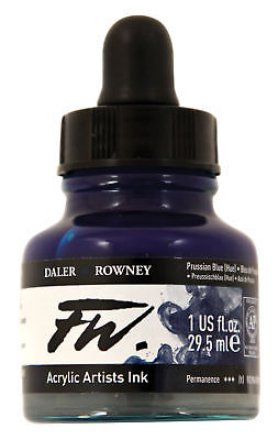 DALER-ROWNEY 160029134 FW FW LIQUID ARTISTS' ACRYLIC INK 1 OZ. PRUSSIAN BLUE