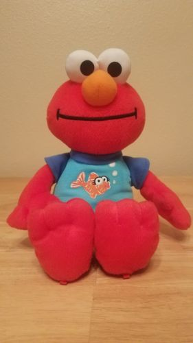 SesameStreet SLEEPY TIME ELMO Plush Stuffed Doll Musical