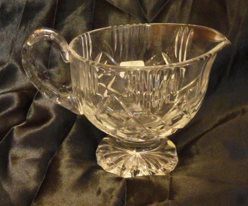 Rovelli Crystal Gravy Footed Bowl by Swiss Crystal Company - 24% lead Crystal