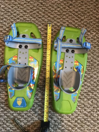 Little bear youth snowshoes green, blue & gray w/camo, 14