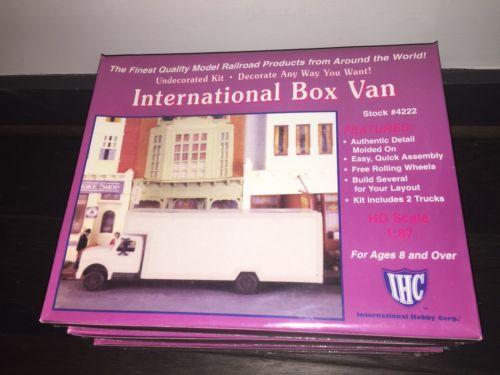 Lot Of 4 Kits HO Scale IHC International Box Van Kit Truck New Sealed