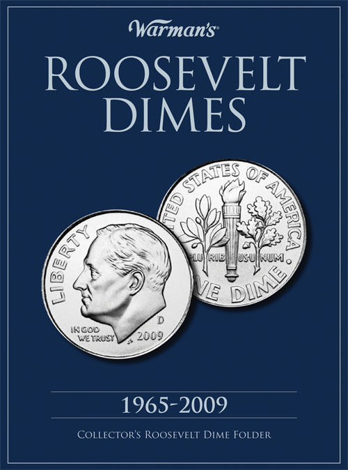 New WARMAN'S Album ROOSEVELT DIMES 1965 TO 2009 COLLECTOR'S Coin Folder Book