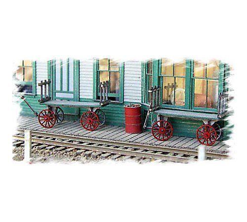 Bar Mills HO Twin Baggage Carts #0782