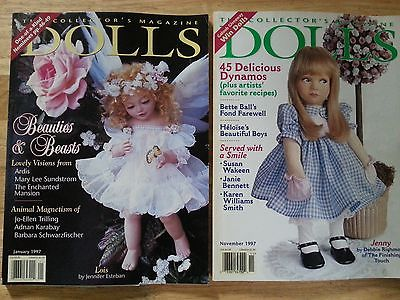 DOLLS The Collector's Magazine Lot of  2 -  1997 - January & November